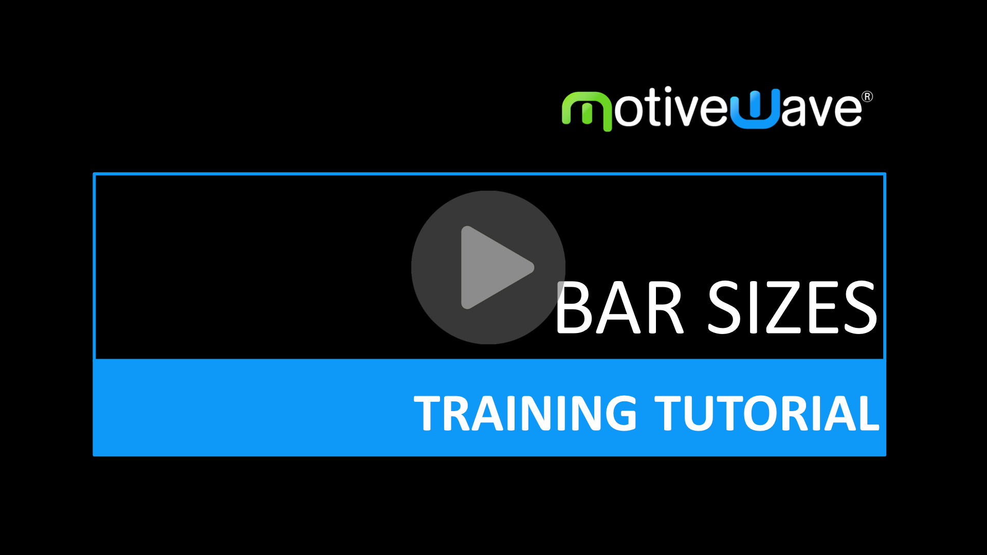 Changing and Creating Bar Sizes