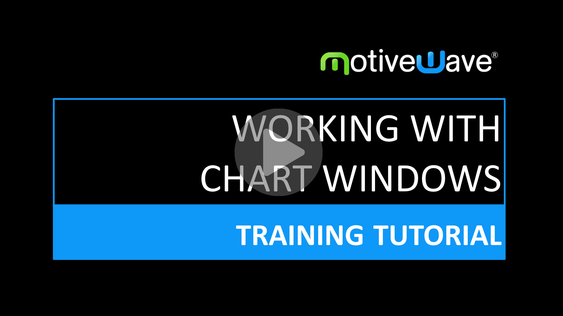 Working With Chart Windows
