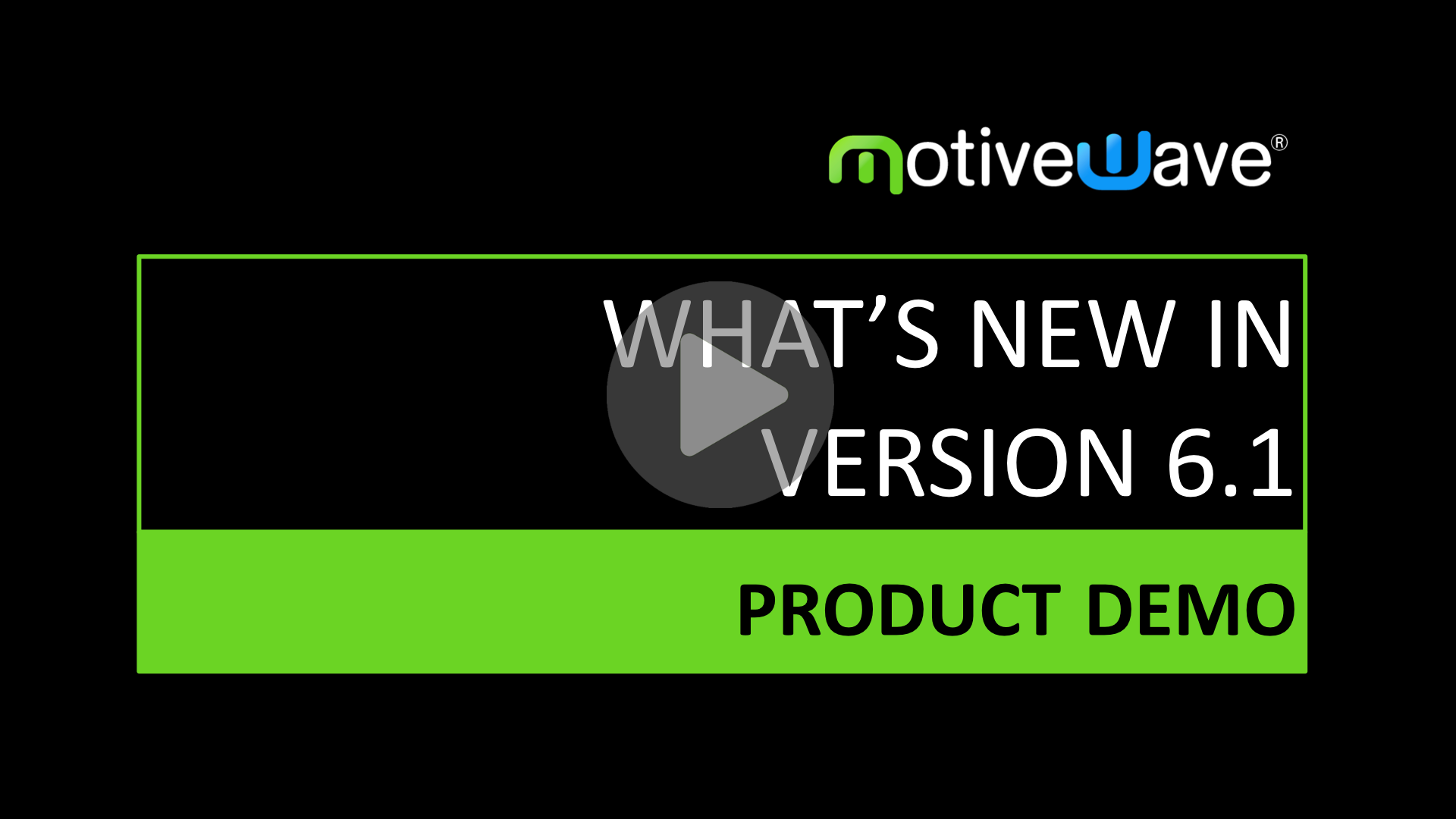 What's New in Version 6.1 video
