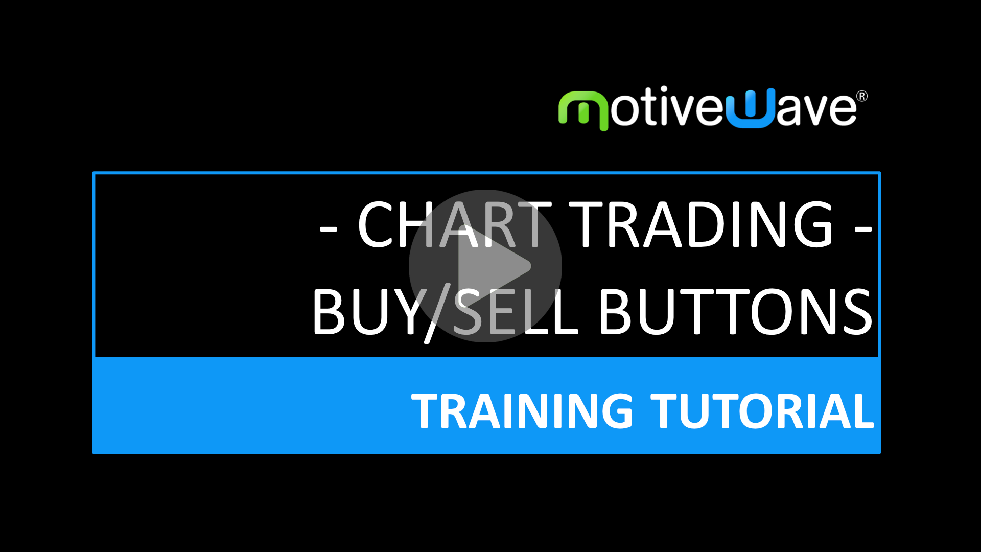 Chart Trading Buy Sell Button Labels