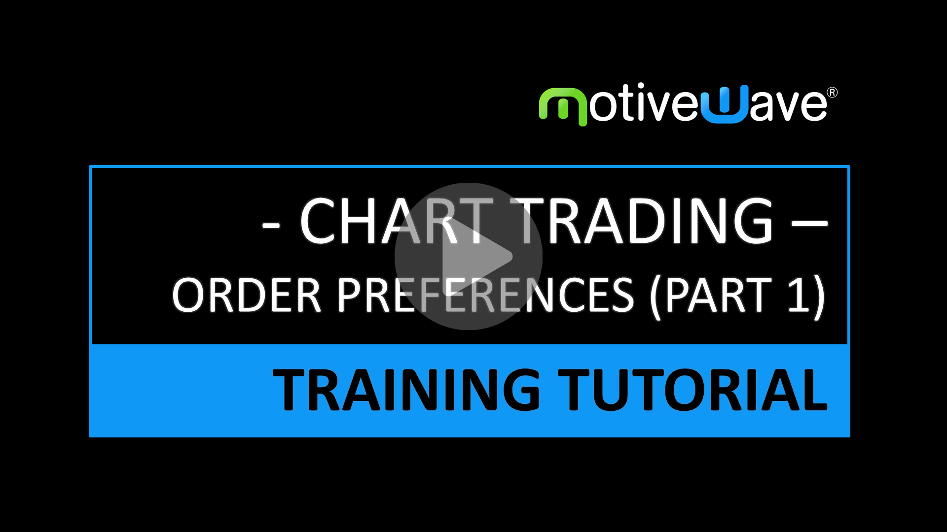 Chart Trading Order Submission Preferences (Part1)